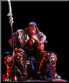 KING CONAN on throne would Conan The Destroyer Throne